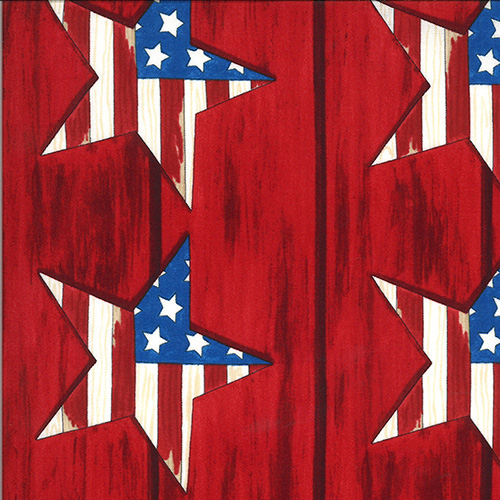 America The Beautiful By Deb Strain For Moda - Barnwood Red