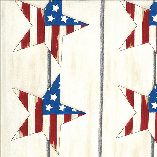 America The Beautiful By Deb Strain For Moda - Distressed White