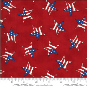 America The Beautiful By Deb Strain For Moda - Barnwood Red