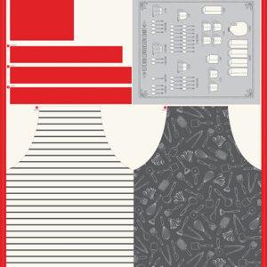 "Cut Sew Create Packaged Digital Panel By Moda - Apron & Tea Towel 49"" X 44"" Min. Of 4"