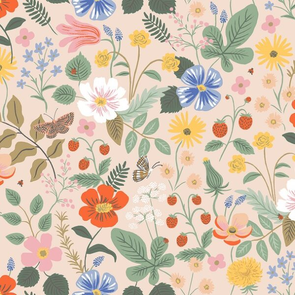 Strawberry Fields By Rifle Paper Co. For Cotton + Steel - Blush - Rayon