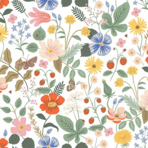 Strawberry Fields By Rifle Paper Co. For Cotton + Steel - Ivory - Rayon