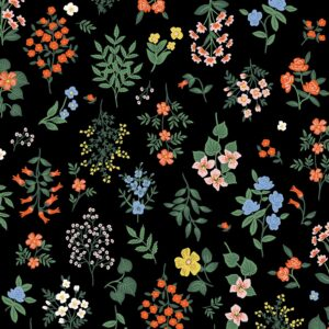 Strawberry Fields By Rifle Paper Co. For Cotton + Steel - Black