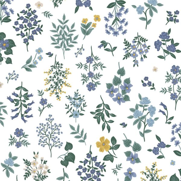 Strawberry Fields By Rifle Paper Co. For Cotton + Steel - Periwinkle