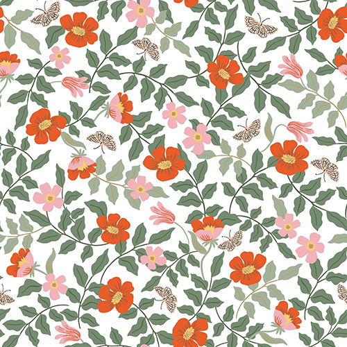 Strawberry Fields By Rifle Paper Co. For Cotton + Steel - Ivory Rayon
