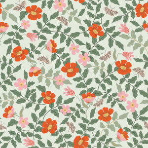 Strawberry Fields By Rifle Paper Co. For Cotton + Steel - Mint Rayon