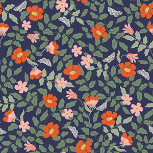 Strawberry Fields By Rifle Paper Co. For Cotton + Steel - Navy