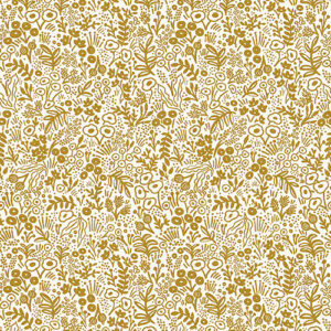 Rifle Paper Co. Basics By Rifle Paper Co. For Cotton + Steel - Gold  - Metallic