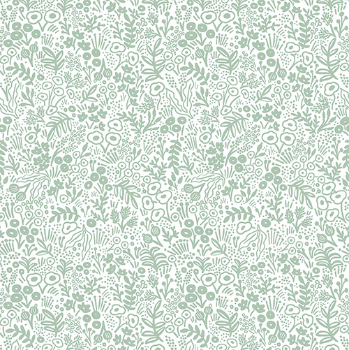 Rifle Paper Co. Basics By Rifle Paper Co. For Cotton + Steel - Sage