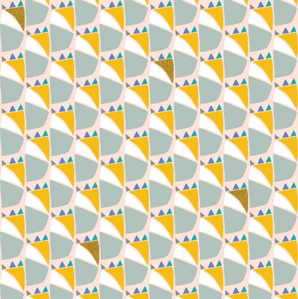 Mountains Rock And Pebbles By Vanessa Binder For Cotton + Steel - Sunny Days Metallic Fabric