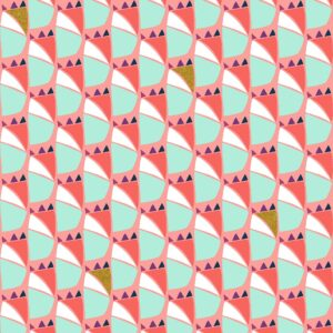 Mountains Rock And Pebbles By Vanessa Binder For Cotton + Steel - Dusk Pink Metallic Fabric