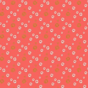 Mountains Rock And Pebbles By Vanessa Binder For Cotton + Steel - Watermelon Metallic Fabric