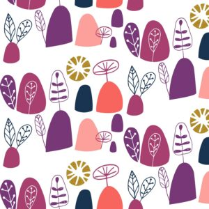 Mountains Rock And Pebbles By Vanessa Binder For Cotton + Steel - Crushed Berries Metallic Fabric