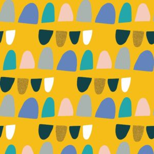Mountains Rock And Pebbles By Vanessa Binder For Cotton + Steel - Luminous Metallic Fabric