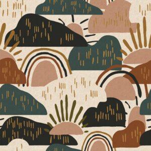 Dear Isla By Hope Johson For Cotton + Steel -Tree Moss Unbleached Canvas