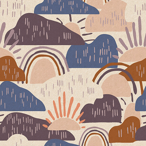 Dear Isla By Hope Johson For Cotton + Steel -Approaching Strom Unbleached Canvas