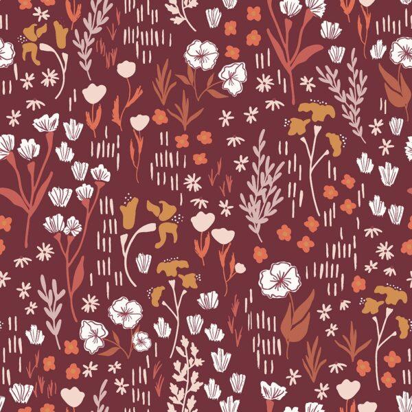 Dear Isla By Hope Johson For Cotton + Steel - Deep Rose