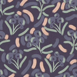Glory By Megan Carter For Cotton + Steel - Sugar Plum Unbleached Canvas