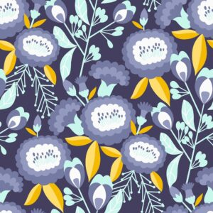Glory By Megan Carter For Cotton + Steel - Deep Purple
