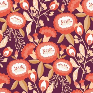 Glory By Megan Carter For Cotton + Steel - Burgundy
