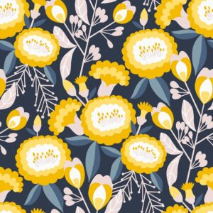 Glory By Megan Carter For Cotton + Steel - Navy