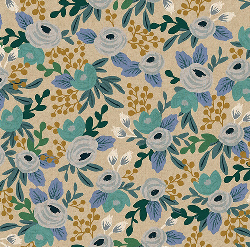 Garden Party By Rifle Paper Co. For Cotton + Steel - Blue Unbleached Canvas