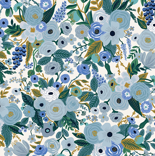 Garden Party By Rifle Paper Co. For Cotton + Steel - Blue
