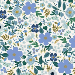 Garden Party By Rifle Paper Co. For Cotton + Steel - Blue Metallic