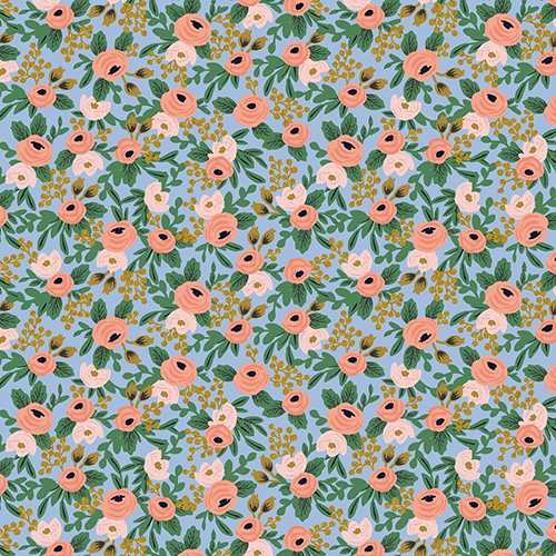 Garden Party By Rifle Paper Co. For Cotton + Steel - Chambray Metallic