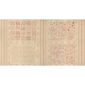 Broderie Embroidery Sampler Mochi Linen By French General For Moda - Roche