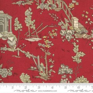 Jardin De Fleurs By French General For Moda - Rouge