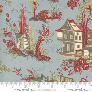 Jardin De Fleurs By French General For Moda - Dusty Blue
