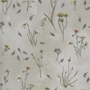Botanicals By Janet Clare For Moda - Vintage Grey
