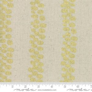 Mochi Linen By Moda - Linen/Gold