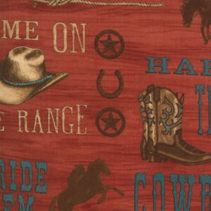 Home On The Range By Deb Strain For Moda - Clay Red