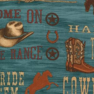 Home On The Range By Deb Strain For Moda - Turquoise