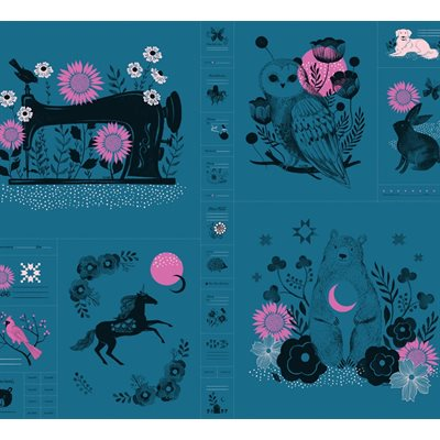 Crescent By Sarah Watts Of Ruby Star Society For Moda - Teal