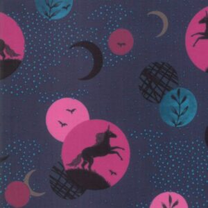 Crescent By Sarah Watts Of Ruby Star Society For Moda - Dark Teal