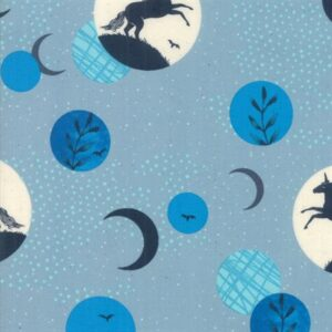 Crescent By Sarah Watts Of Ruby Star Society For Moda - Soft Blue