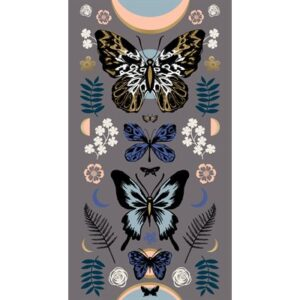 Tiger Fly By Sarah Watts Of Ruby Star Society For Moda - Slate Grey