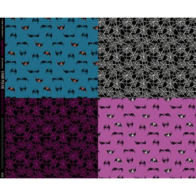 Candy Please - Bat Webs Panel By Sarah Watts Of Ruby Star Society For Moda - Multi
