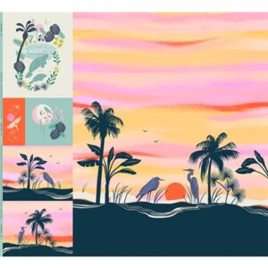 Florida Digital Packaged Panel  By Moda - Multiple Of 2