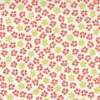 Strawberries And Rhubarb By Fig Tree & Co. For Moda - Crisp Linen - Strawberry