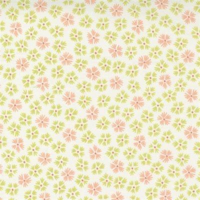Strawberries And Rhubarb By Fig Tree & Co. For Moda - Crisp Linen - Sprout