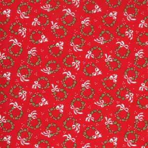 Merry And Bright By Me & My Sister For Moda - Poinsettia Red