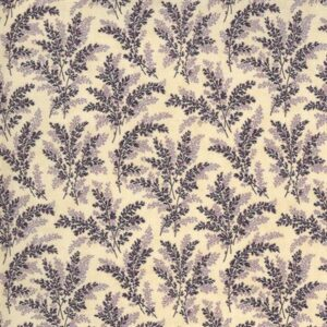 Mill Creek Garden By Jan Patek For Moda - Ivory - Purple