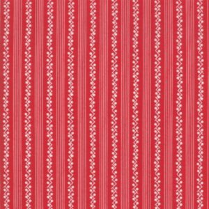 My Redwork Garden By Bunny Hill Designs For Moda - Red