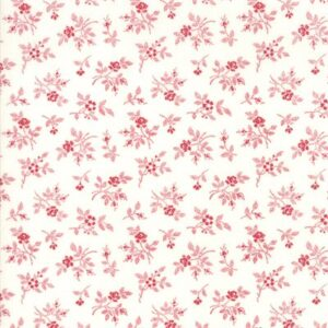 My Redwork Garden By Bunny Hill Designs For Moda - Cream - Red
