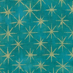 Grunge Seeing Stars Metallic By Basicgrey For Moda - Ocean