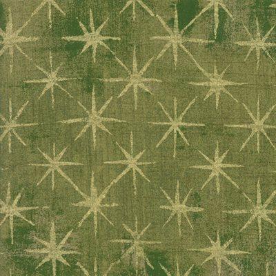 Grunge Seeing Stars Metallic By Basicgrey For Moda - Vert
